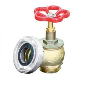 Zawór hydrantowy fi 52 mosiężny z nasadą alum.