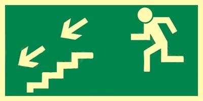 Z.AA Kierunek do wyjścia schodami w dół w lewo 15×30 005 CEPS