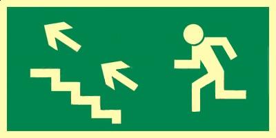 Z.AA Kierunek do wyjścia schodami w górę w lewo 15×30 006 CEPS