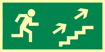 Z.AA Kierunek do wyjścia schodami w górę w prawo 15×30 007 CEPS